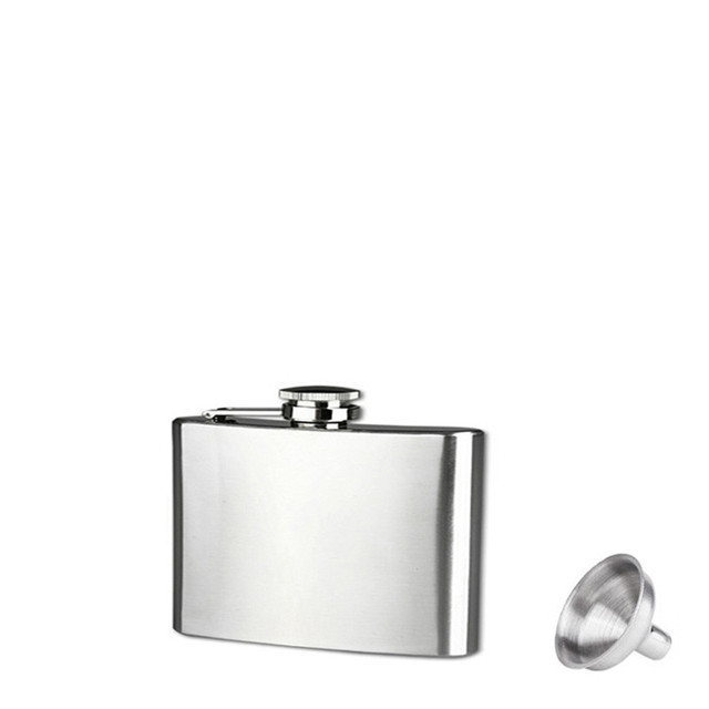 2017 very popular Sizes Stainless Steel Pocket Hip Flask Alcohol Whiskey Liquor Screw Cap + Funnel gift wholesale  J10