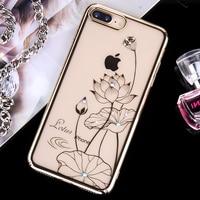 KINGXBAR For IPhone 7 8 Plus Case Swarovski Element Crystals Plating PC Hard Diamond Rhinestone Case