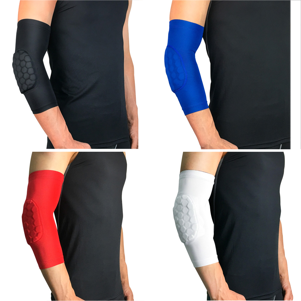 Protective Gear Honeycomb Anti-collision Arm Sleeve For Basketball Solid Color SPSLF0031