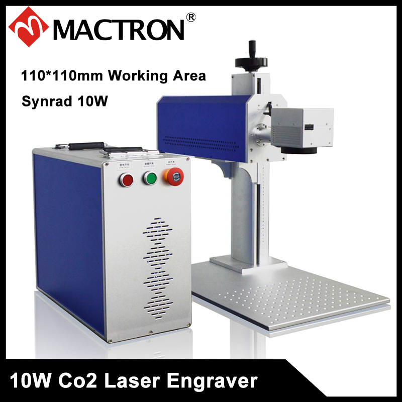 Long Lifetime Synrad 10W Non Metal Co2 Laser Marking and Engraving Machine for Plastic, Wood, Acrylic