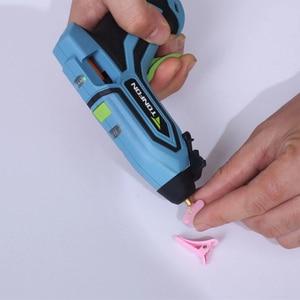 Image 5 - Youpin pistola de pegamento caliente inalámbrica Tonfon Original, 3,6 V, integrada, 2000mah, recargable por USB, juegos de pistolas de pegamento de fusión con 10/20 barras de pegamento