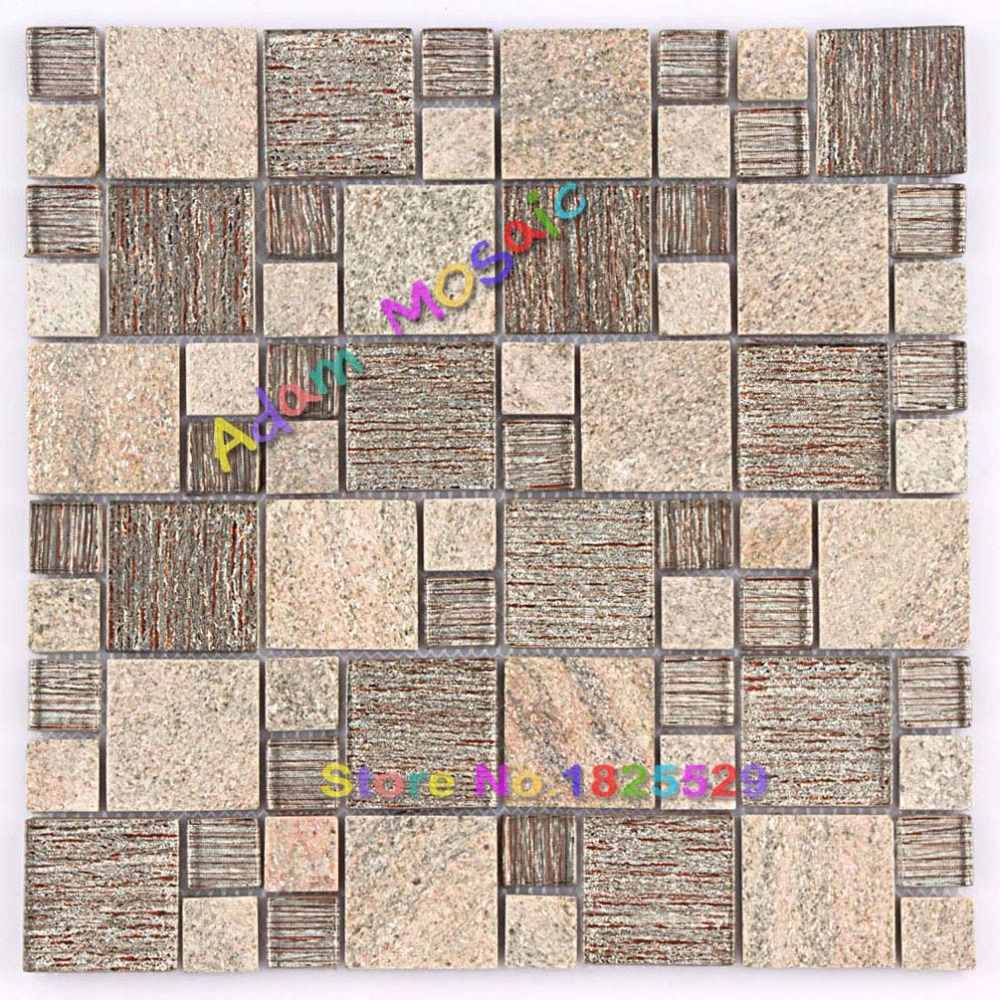 Stein Mosaik Fliesen Braun Mosaik Fliesen Schokolade Bad Wand Backsplash  Kithchen U Bahn Glas Deco Blätter In Stein Mosaik Fliesen Braun Mosaik  Fliesen ...