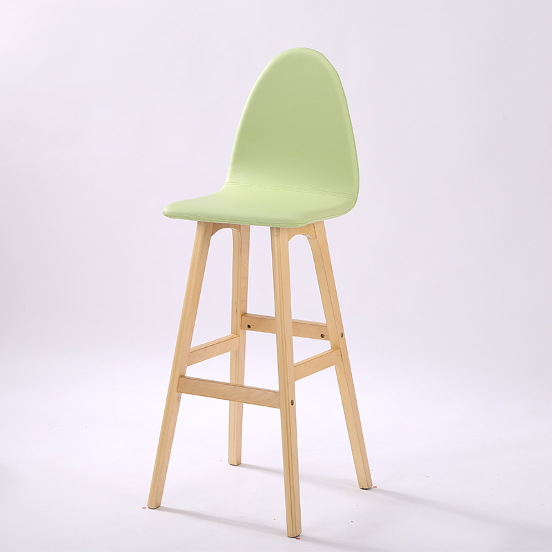 South America popular bar stool wholesale and retail Bar wooden leg stool green balck white red color free shipping