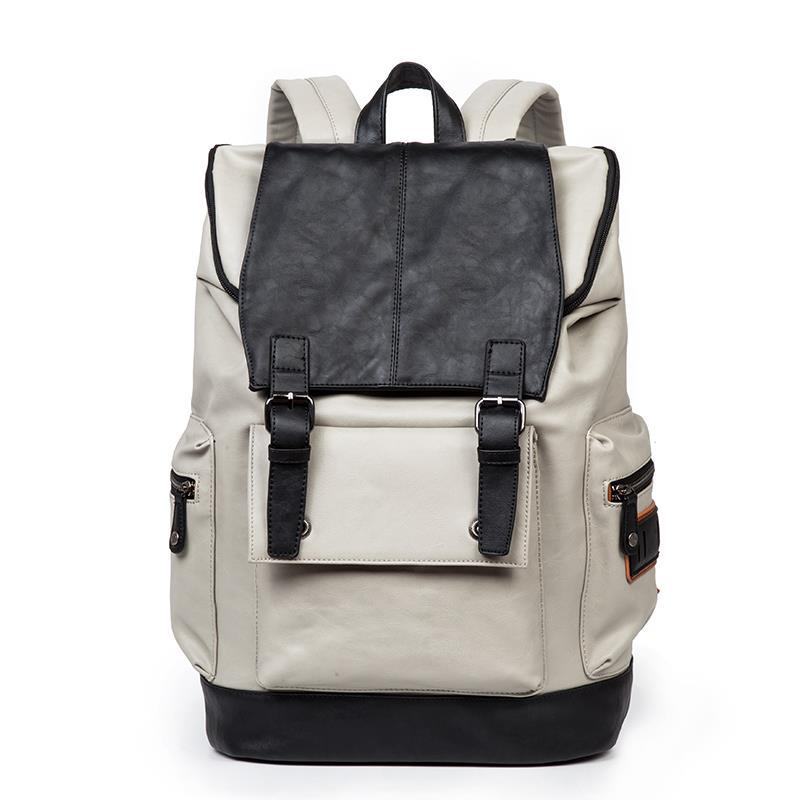 21c9de64545e Brand Quality black leather backpack man 15 Notebook Bag Backpack Men  fashion middle school bag with laptop pocket-in Backpacks from Luggage    Bags on ...
