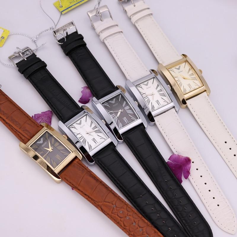 Top Julius Man Woman Wrist Watch 6 Colors Elegant Simple Fashion Hours Dress Bracelet Leather School Student Lovers Gift