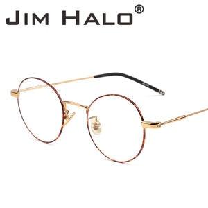 69288c3a8a JIM HALO Round Glasses Frame Eyeglasses Optical Women Men