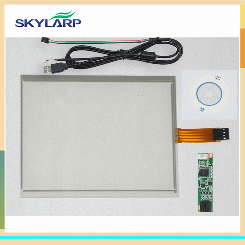 ФОТО New 6.5 inch 4 Wire Resistive Touch Screen USB Controller for G065VN01 143*117mm Screen touch panel Glass Free shipping