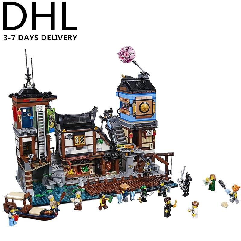 2018 NOUVEAU Ninjagoed Docks de La Ville de Blocs Ensembles Briques Ninja Film Classique Modèle Enfants Jouets CADEAU Marvel Compatible Legoings