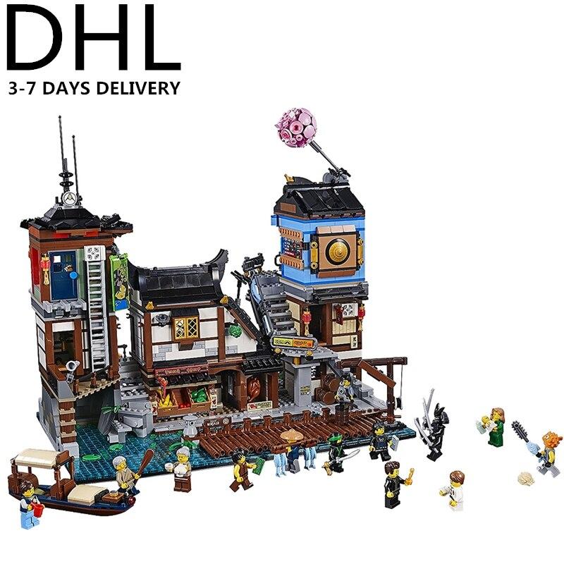 Compatible, Building, Kids, Block, Ninja, City