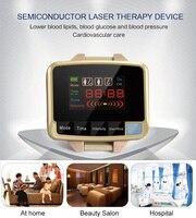 2017 инновационный продукт низкого уровня лазерной наручные часы измерять кровяное давление устройство сахарный лечения гипертонии физиоте
