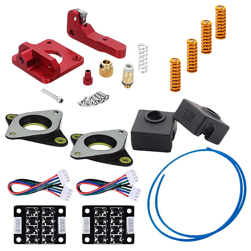 Upgrade Kit Springs Extruder Sock Tube Stepper Dampers Smoother For Creality Ender 3 3D Printer Parts & Accessories     - title=