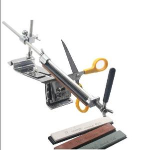 Image 4 - Aggiornato Fisso angolo Per Affilare I Coltelli Kit Full Metal In Acciaio Inox coltello slicker whetstone + Professionale 4 Affilatura Pietre