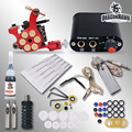 Beginner Complete Tattoo Kit Machine Guns Inks Needles Tattoo Power Supply  MGT-18GD-8