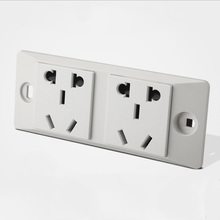 250V 10A Multifunction Socket,  Function For Industrial Wall Double Power Outlet Panel