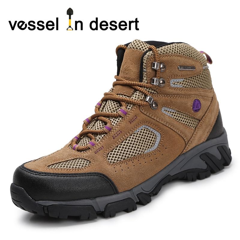 Lelaki wanita luar kasut kulit asli kasut sukan kasut bernafas cowsuede kasut hiking lebih saiz 38-46 Penghantaran Percuma