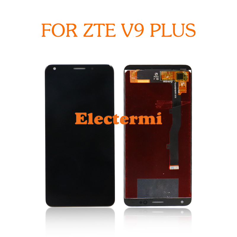 High Quality Free Shiping For <font><b>ZTE</b></font> <font><b>Blade</b></font> V9 Plus <font><b>LCD</b></font> <font><b>Display</b></font> Touch Screen Digitizer Glass Assembly + Repairs Tools image