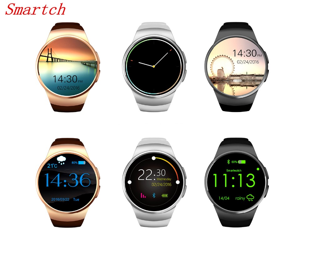 Smartch Smart Watch KW18 Full IPS Screen Bluetooth Wearable Devices Heart Rate Monitor Fitness Tracker for IOS Android Smartphon