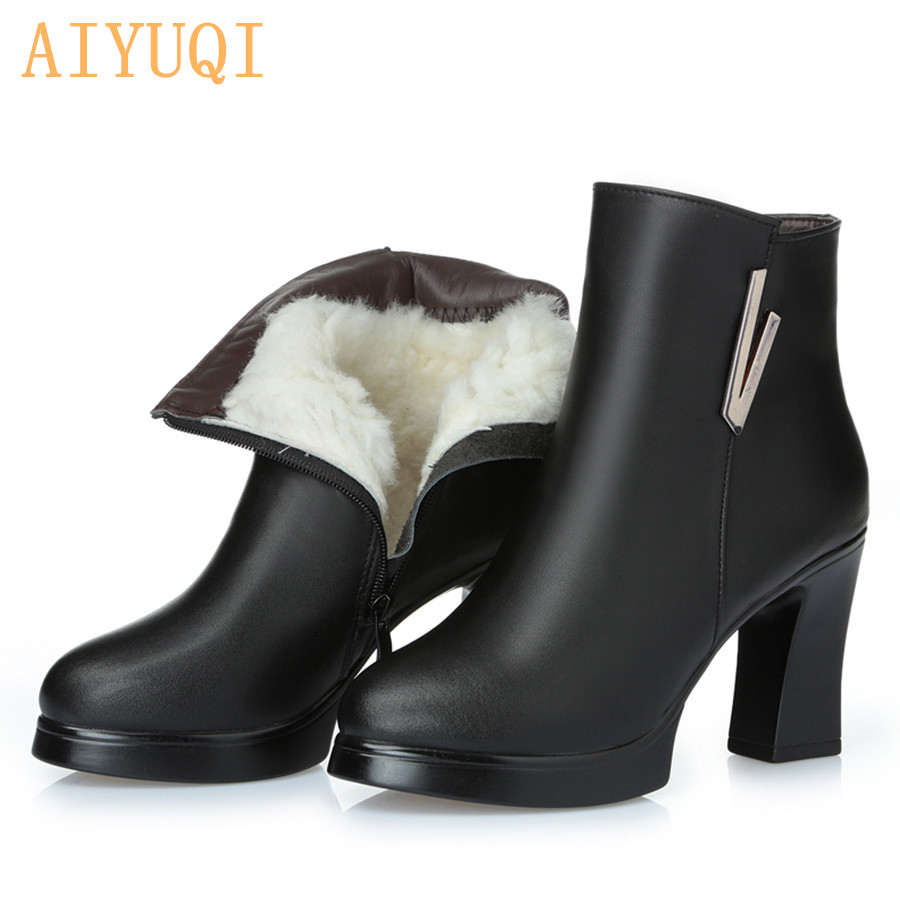 d0bc919a827d 2019 new woman ankle boots. ladies genuine leather snow boots .high-heeled  fashion