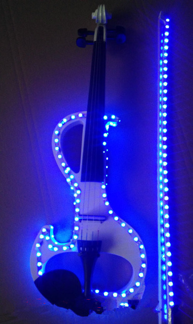Кристалл акриловая Скрипка Led электронная скрипка электро-акустическая скрипка 4/4