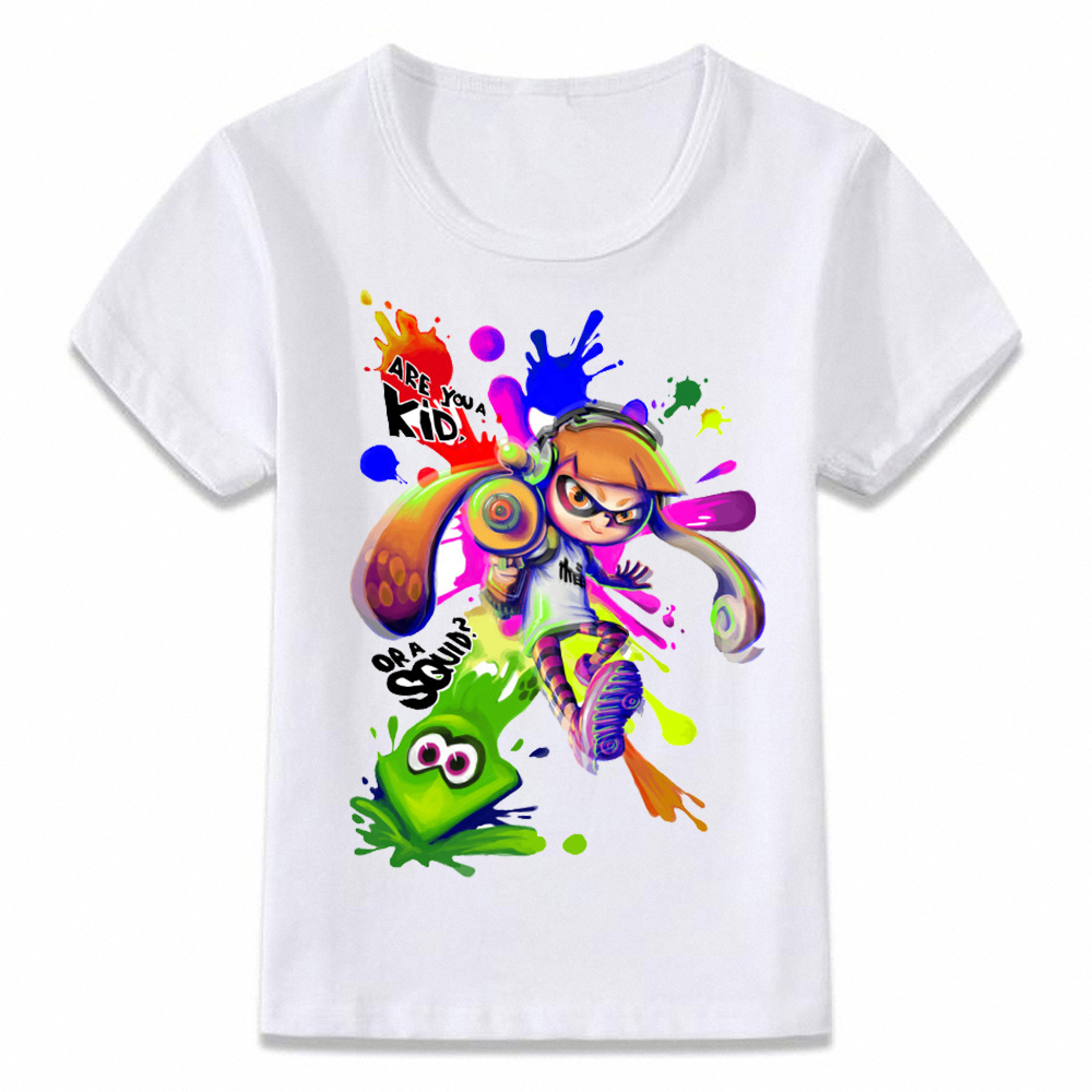 Kids Clothes T Shirt Splatoon T-shirt For Boys And Girls Toddler Shirts Tee Oal251