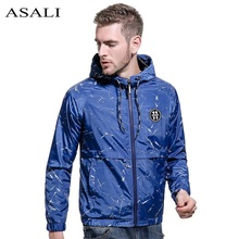 ASALI Pilot Jacket Coat Flight Men Bomber Jacket Men Hip Hop Patch Flowers Designs Slim Fit Air Force Polo Men Jacket USA SIZE(China)