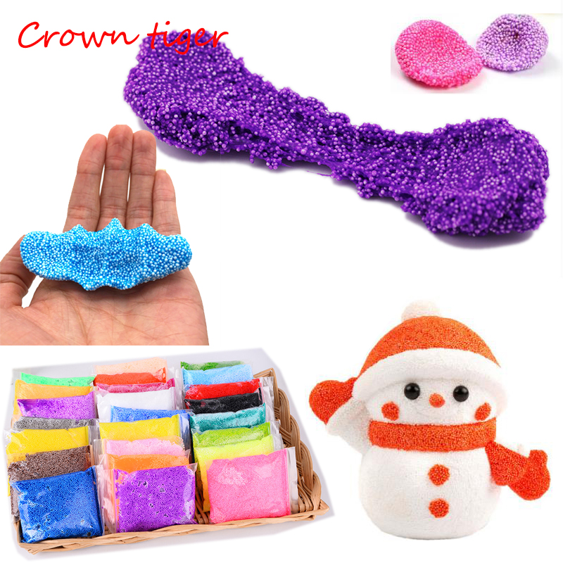 Color Snow mud Fluffy Floam Slime antistress slime diy bead slime toy for Kid puzzle Toy intelligent Sludge Mud Toy light clay