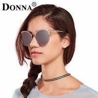 Donna Quadro Do Gato Olho Óculos De Sol Mulheres Polarizada Óculos Meia Moldura de Espelho Oval Rodada Marca Designer óculos de Sol de Grandes Dimensões