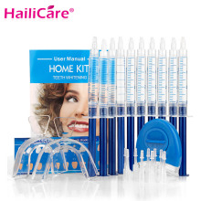Teeth Whitening Oral Gel Polish Pen Kits Peroxide Professional Bleaching Dental Hygiene Care Tools Tooth Whitener with LED Light