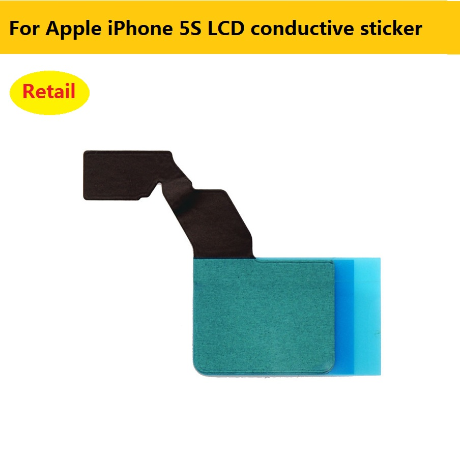 2pcs original LCD conductive adhesive sticker For Apple iPhone 5S black LCD iron frame square glue Replacement repair Parts