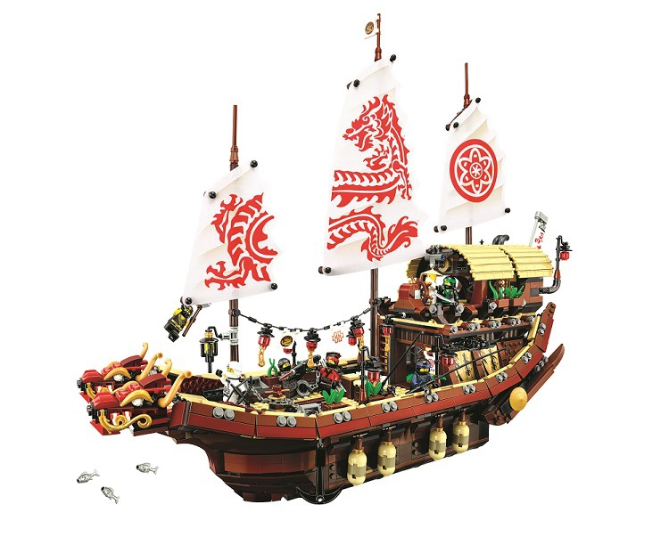 New 10723 Ninja series The Destiny s Bounty Model Building Blocks set Compatible 70618 classic ship