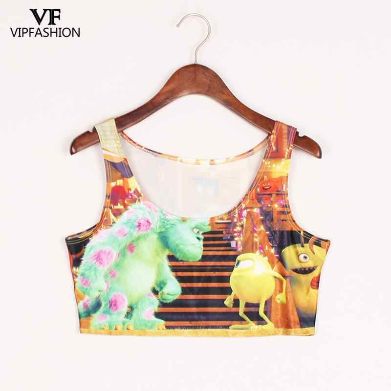 VIP FASNHION NEW ARRIVAL Crop Top Girl Women Cartoon Women Print tank tops Mixed Comics Cartoon Colorful sleeveless Tee Vest