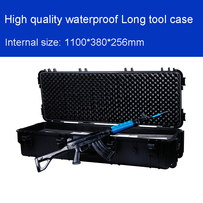 Long Tool Case Toolbox Impact Resistant Sealed Waterproof Case Photographic Equipment Camera Case Gun Case With Pre-cut Foam