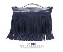 2016 American Fashion Tassels Fringe Baggage Actual Cow Leather-based Star Trend Clutch Purses Purses ladies Shoulder Baggage
