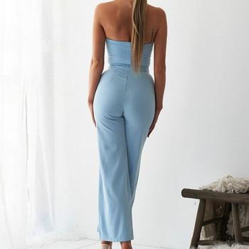 Fashion Cut Out Women Sexy Jumpsuit Summer Office Lady Strapless 2019 Long Pants Pocket Bodycon Jumpsuits Romper Plus Size M0596 5