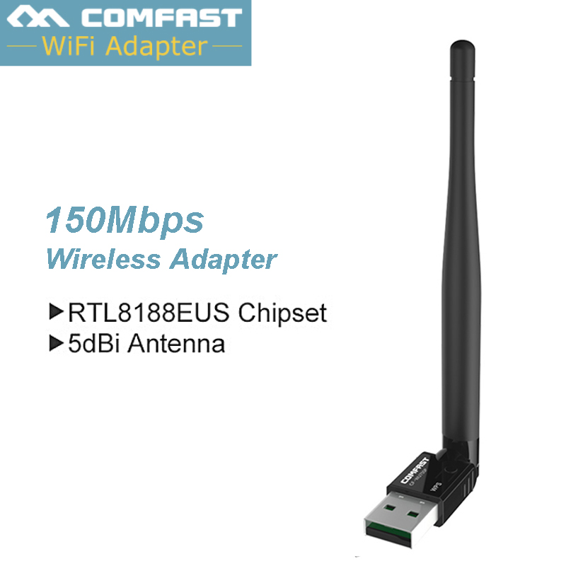 5dBi Wi-fi Antenna RealTek RTL8188 Comfast 150Mbps Wireless USB Wifi Hotspot Wlan Adapter Dongle USB Wireless Network LAN Card