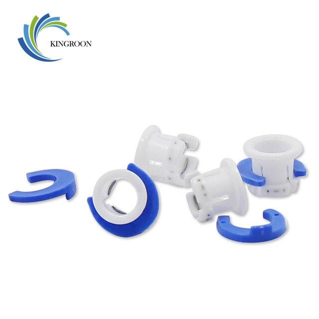 10 set Wit Bowden Tube Clamp Blue Pijp Paard Clip Vaste 6mm 3D Printers Onderdelen Schoen Koppeling Collet Deel plastic Accessoires 2