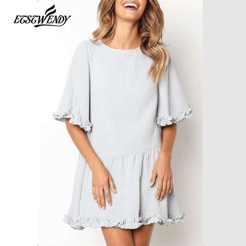 <font><b>Women</b></font> Casual Loose <font><b>Elegant</b></font> A-line <font><b>Dress</b></font> Short Sleeve O-Neck <font><b>Sexy</b></font> Mini <font><b>Lace</b></font> <font><b>Dress</b></font> New <font><b>2019</b></font> Spring <font><b>Summer</b></font> <font><b>Dress</b></font> <font><b>Fashion</b></font> Vestidos image