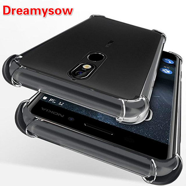 wholesale dealer 4ec2d 89fdc Airbag Full Protective Shock Proof Case for Nokia 3 5 6 8 Sirocco Soft TPU  Case Cover for Nokia 6 2018 6.1 7 Plus Dual Sim Cover-in Phone Bumper from  ...