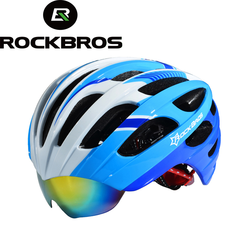 цена на Hot! ROCKBROS Cycling Helmet casco ciclismo Bicycle Helmet MTB Mountain Bike Helmet 32 Air Vents With 3 Lenses 256g SIZE:57-62cm
