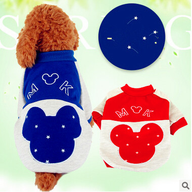 Fashion Blue Red font b Pet b font Dog font b Clothes b font Sweatshirt Hoodie