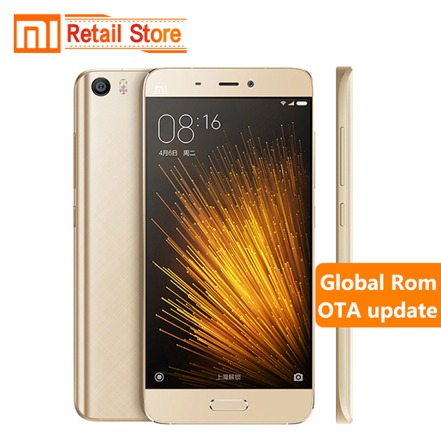 Original Xiaomi Mi5 Prime 3GB RAM 64GB ROM Mobile Phone Mi 5 Snapdragon 820 Quad Core 5.15 Inch 3D Glass body 16.0 MP Camera