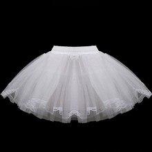 Короткая детская юбка-пачка для маленьких девочек, без обруча, Нижняя юбка-американка с кринолинами, юбка-комбинация для девочек с цветочным принтом, Jupon Enfant