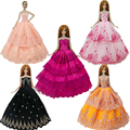 2017 New handmake wedding Dress  Fashion  Clothing Gown For Barbie doll Free shipping