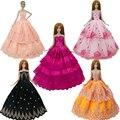 2017 nova handmake vestido de noiva fashion vestido de roupas para barbie doll frete grátis