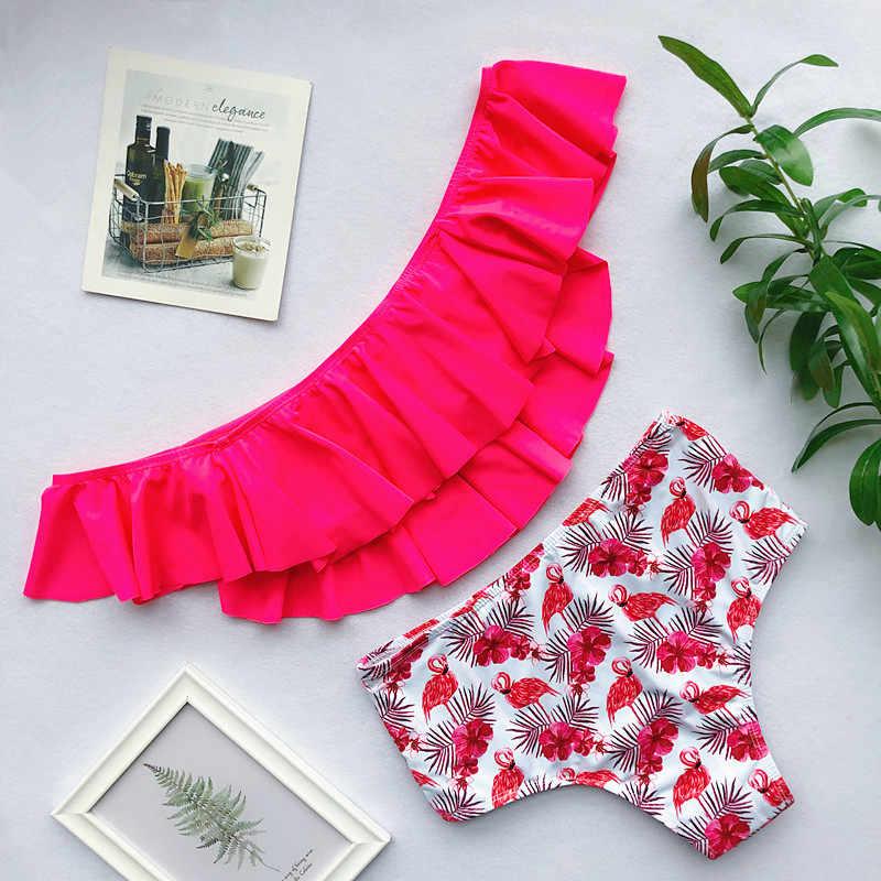 2019 Для женщин Для мужчин s купальный костюм-двойка Для женщин бикини с изображением фламинго мужские пляжные шорты Плавки, боксёры для плавания пляжный купальник для Серфинга Boardshort