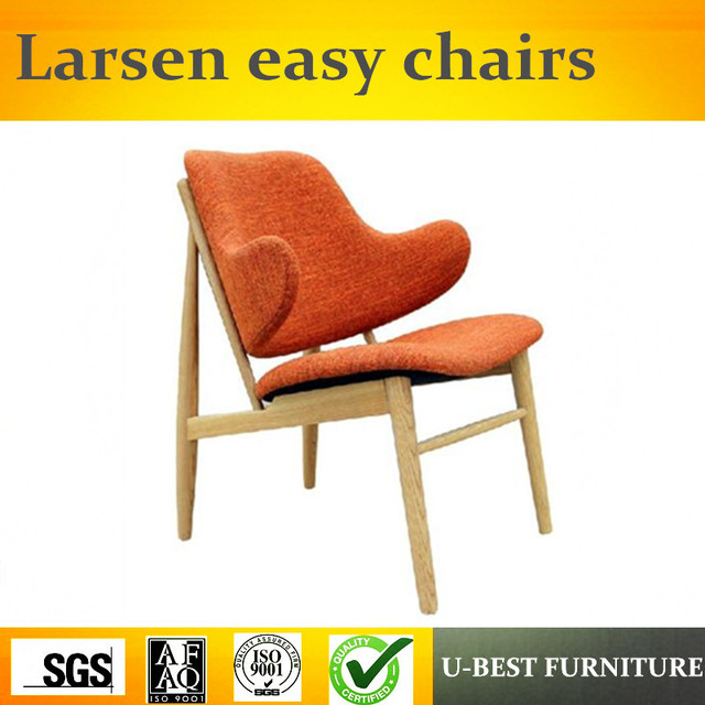 U BEST Replica Ib Kofod Larsen Classic Design Back Upholstered Larsen Easy  Chairs With Tapered