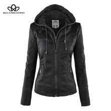 Ladies Jacket leather faux