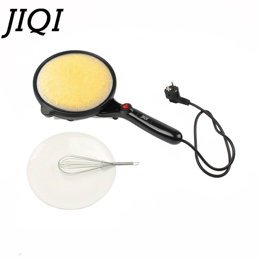 JIQI Électrique Crêpe Maker Cuisson Pan Chinois Printemps Rouleau Friture Machine À Crêpes Pizza Plaque Non-bâton Tarte Cuisinière Plaque UE plug
