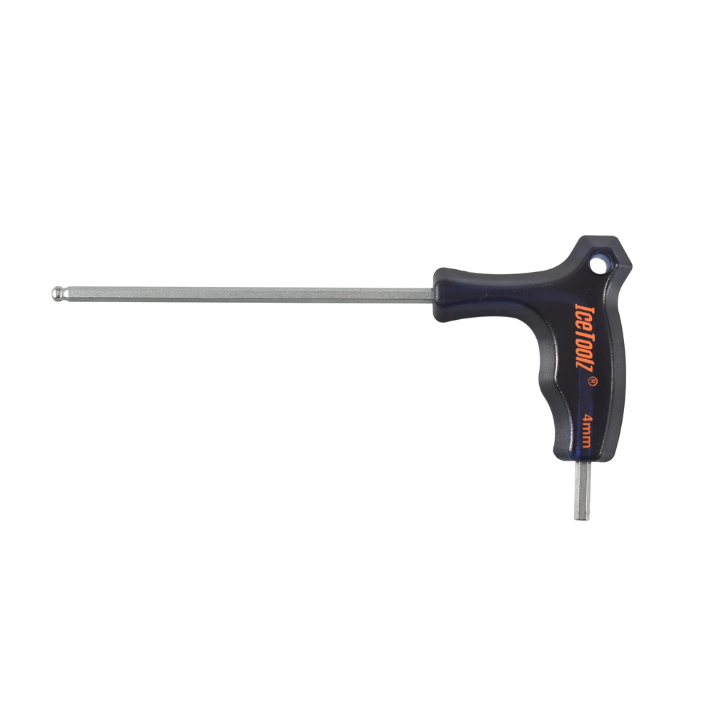 Icetoolz 7M40 4mm hand tools hex key allen wrench BALL FLAT head Non-slip metric hexagonal high quality