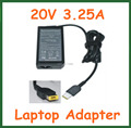 20V 3.25A 65W AC Adapter Battery Charger for Lenovo IdeaPad Yoga 13 Series Ultrabook Power Supply Adapter USB Pin Square